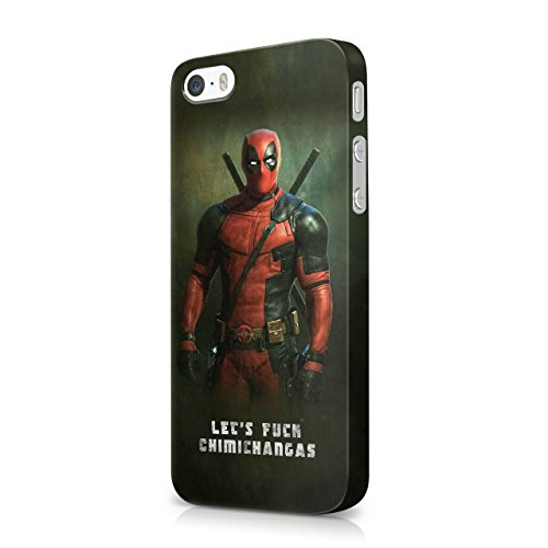 Deadpool Lets Fuck Chimichangas Hard Snap-On Protective Case Cover For Iphone 5 / Iphone 5S