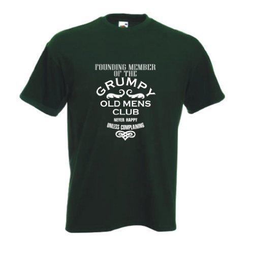 Founding mitglied von dem Mürrische alter herren club T-shirt Waldgrün