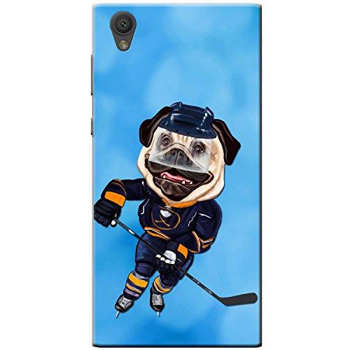 Eishockey-bilderrahmen (Eishockey Mops mit Schlittschuhen & Schläger Hartschalenhülle Telefonhülle zum Aufstecken für Sony Xperia L1 (G3311))