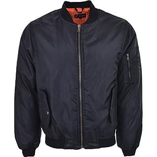 Mens MA1 Military Army Pilot Security Doorman Bomber Mens Workwear Jacket Biker Black