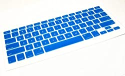 """Picknbuy Usa Deep Blue Keyboard Silicone Skin Cover Use For Apple Macbook Air (13"""") & Macbook Pro (13"""", 15"""", 17"""") Inch Laptop Computer (United States Keyboard Layout)"""