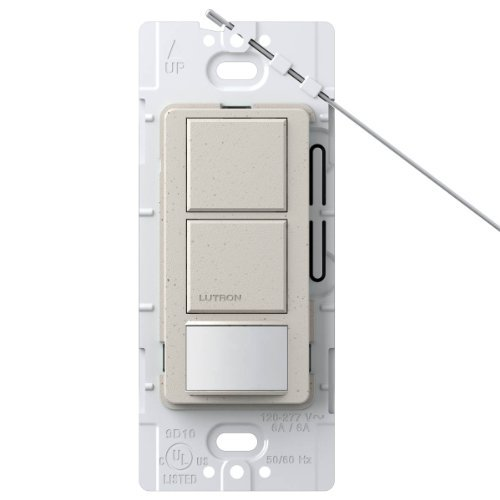 Lutron MS-OPS6-DDV-LS Maestro 6-Amp Single Pole Dual Circuit Occupancy Sensing Switch, Limestone by Lutron Occupancy Sensing Switch