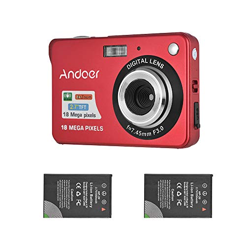 Andoer Digital Camera with 2pcs ...
