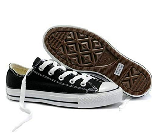 Classic Chuck Taylor Low Trainer Sneaker New Sizes Shoes UK Canvas Shoes Conver Black(Low Top) UK6\u002FEU39
