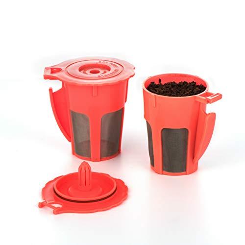 Maxware 2 wiederverwendbare nachfüllbare Kaffeefilter, K-Karaffe, nachfüllbarer Kaffee-Filterhalter für Keurig Family 2.0 Orange - Karaffe Filter Keurig