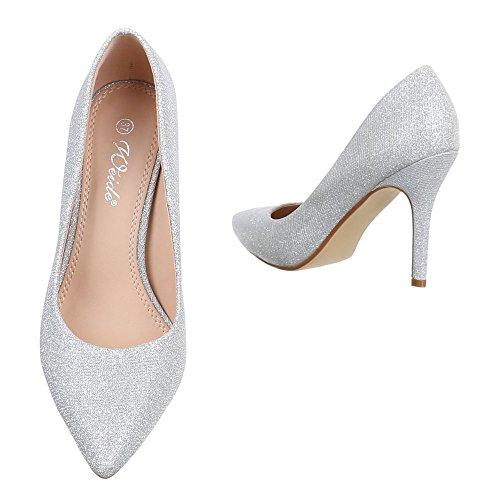 Ital-Design - Pantofole Donna Silber 9968-8