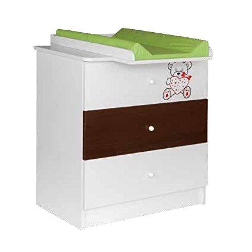 Preisvergleich Produktbild Best For Kids Wickelkommode My Sweet Baby Babyzimmer 3 Schubladen weiß