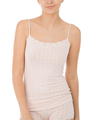 Calida Damen Unterhemd Etude Toujours, Beige (Sandshell Melé 862), 46 (Herstellergröße: L) (Nadelstreifen-hemd Damen)
