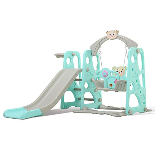 Skiout Infantil Toboganes y Columpios Niños Diapositiva Juguetes para Interior/Exterior/Parque/Jardín,Blue