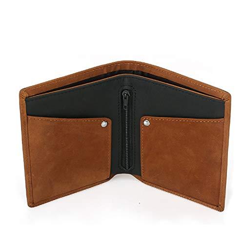sciuU Portafoglio in Pelle, RFID Blocco, Sottile Porta Carte di Credito Wallet in Vacchetta, con Tasca per Moneta