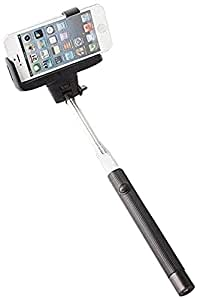 khomo perche selfie stick noire t lescopique avec support r glable et t l commande pour mobile. Black Bedroom Furniture Sets. Home Design Ideas