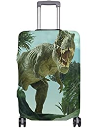 deb6c10c8 ALAZA Divertido 3D Cubierta Dinosaurio Equipaje Cabe 18-20 Pulgadas Maleta  de Viaje Spandex
