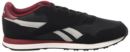 Reebok Royal Ultra, Sneaker Basses Homme Noir (Black/lgh Solid Grey/collegiat Burgundy)