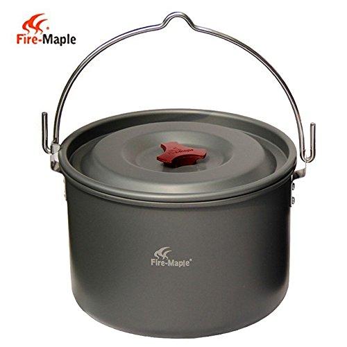 ängende Pot Aluminium für 4-5 Personen Kochen Camping Lagerfeuer-Party (Lagerfeuer-partys)