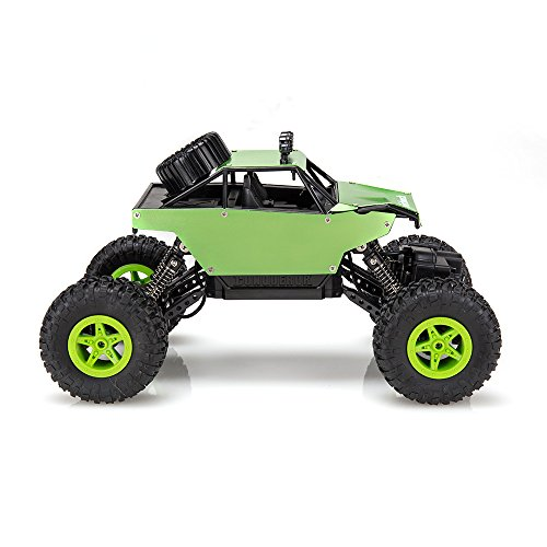 Virhuck 1139 (A) 1/18 Scale 4WD Rock Crawler con Carcasa Metálica 2.4GHz Vehículo Todoterreno RC Car 4MPH (Verde)