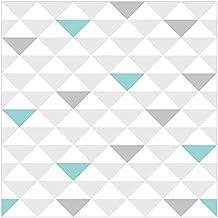 Vliestapete Keine Yk Dreiecke Grau Weis Turkis Wandbild Quadratisch Tapete Wand Wandbild Foto