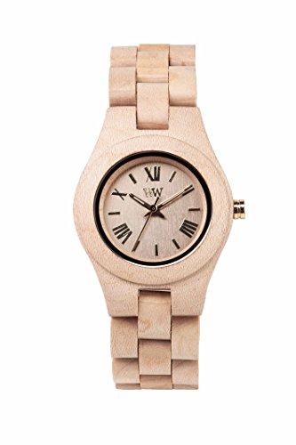 WEWOOD Damen Analog Quarz Smart Watch Armbanduhr mit Holz Armband WW21001