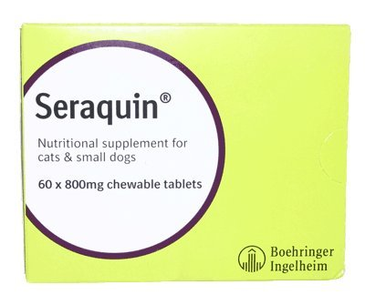 Seraquin Veterinary Joint Supplement with Turmeric for Cats and Small Dogs - 60 x 800 mg Chewable Tablets 1