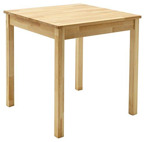 Robas Lund, Tisch, Esszimmertisch,Alfons, Kernbuche/Massivholz, 70 x 76 x 70 cm, ALF070KB