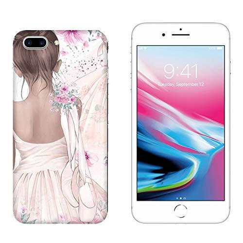 Case Apple iPhone 7 Plus Tanz was für eine Leidenschaft Ballerina mit Schuhen/Cover Druck auch an den Seiten/Anti-Rutsch Anti-Rutsch Anti-Scratch Schock-resistenten Schutz Sc ()