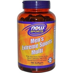 Now Foods, Sports, Men Extreme Sports Multi, 180 Softgels NOW-03891