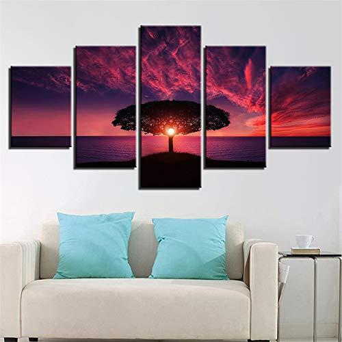 SUYUN Dekorative Malerei,HD fünfzeilige Tusche Bäume Landschaft Home Fashion Malerei Wandmalerei 11 Malerei Kern 20x35cmx2 20x45cmx2 20x55cmx1