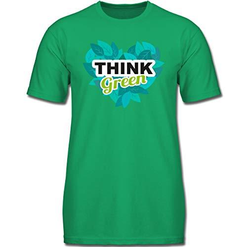Up to Date Kind - Think Green - 164 (14-15 Jahre) - Grün - F130K - Jungen Kinder T-Shirt - Think Green T-shirt