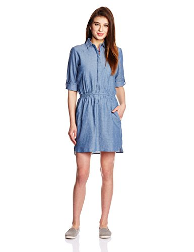 People Women's Cotton Shift Dress (P20402065633169_Navy_Small)