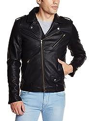Flying Machine Mens Polyester Jacket (8907259210421_FMJK0455_XX-Large_Black)