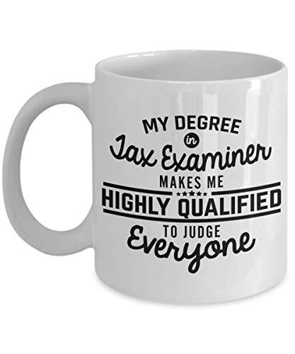 SHALLY Tax Examiner Mug - Funny 11 Oz Ceramic Novelty Coffee Mug Tea Cup Unique Gift Idea for Men Woman Dad Husband Boyfriend Girlfriend Best Friend Coworker - Iced Beste Tea Maker