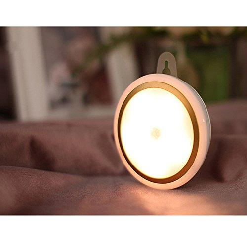 KEEDA Lumières de Capteur de Mouvement,Lumières Sans fil de Nuit de LED, (3 Modes, Marche / Arrêt Automatique, USB Rechargeable) Touche Stick Touche Lampe de la Lampe, Lumières de Mur de LED,Éclairage d'ambiance pour Chambre à Coucher, Cuisine, Placard, Escalier (Lumières Chaudes)