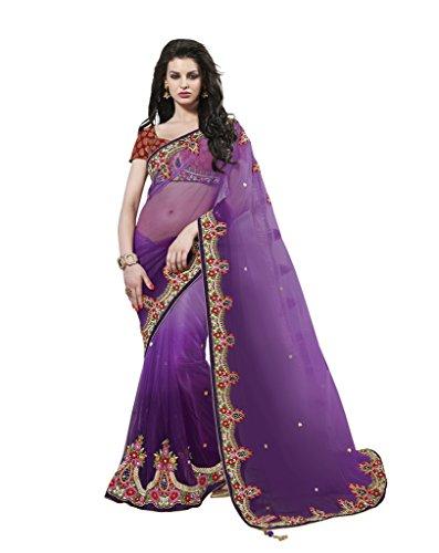 Mahotsav Net Saree (8527_Purple)  available at amazon for Rs.1960