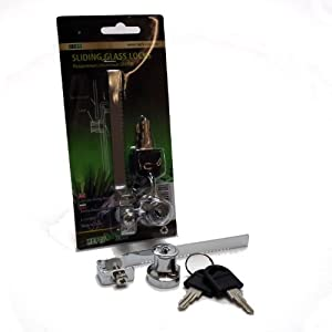 Sliding Glass Lock with 2 Keys from Repti-Zoo