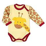 Baby Sweets Baby Langarmbody Unisex gelb braun rot | Motiv: Baby Giraffe | Body für Neugeborene & Kleinkinder | Größe 6-9 Monate (74)...