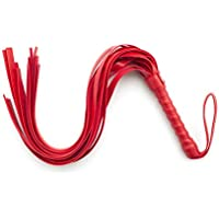 Tatapai Erotic Sex Whip For Adult SM Games Leather Slave Spanking Bondage Flogger Whip Sex Toys For Couple Woman Man Sexy Adult Products-Red_