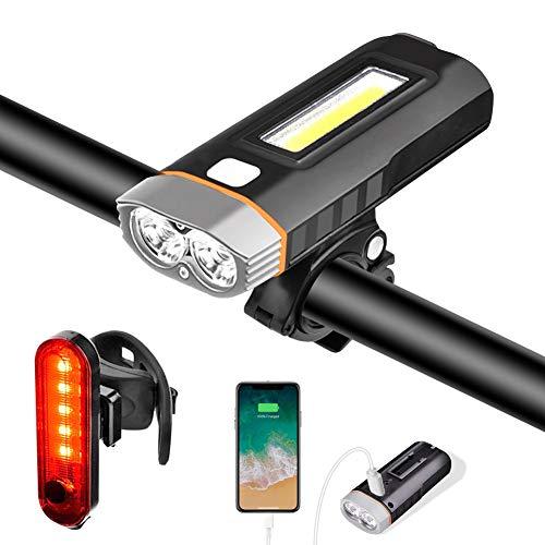 Lumière Vélo Eclairage Lampe Phare LED Bicyclette USB Rechargeable IPX5 Etanche 1000 Lumens 4000...