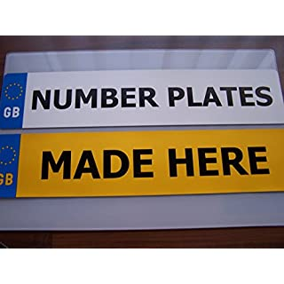LEGAL GB NUMBER PLATES A PAIR