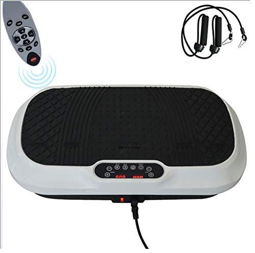 QBWZ 3D-Fitness-Ganzkörper-Vibrationsplattform-Maschine - Vibrationsplatte Crazy Fit Massage-Trainingsgerät mit Fernbedienung und Widerstandsbändern