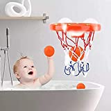 Addmos Bath toys, Ball Games Basket Hoop for the tub with 3 Balls and Suction Cups for Baby Kids Toddlers Bild 5