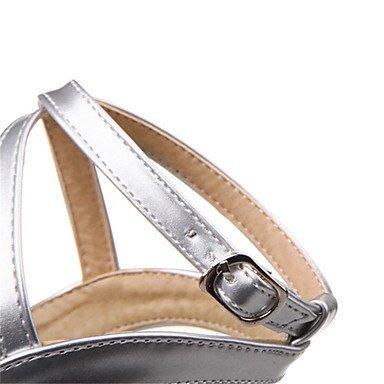 NVXZD Da donna-Tacchi-Matrimonio Tempo libero Ufficio e lavoro Formale Casual Serata e festa-Club Shoes-A stiletto-PU (Poliuretano)-Oro Nero Argento