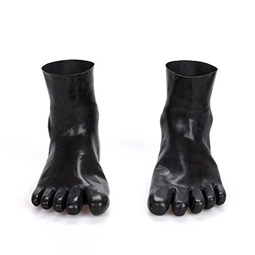 ack Natural Soft Latex Fünf Finger Socken Sexy Fuß Hülse Kostüme für Paare SM Spiel (Eva Sexy Kostüme)