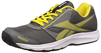 Reebok Men's Ultimate Speed 4.0 Lp Grey and Yellow Running Shoes  - 10 UK