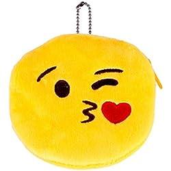 Emoji Emoticono Mini bolsa Sannysis Monedero del bolso de la caja, 10*10cm (F)