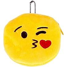 JZK 8 Plush Emoji Emoticono Monedero Bolso 11 cm pequeña Bolsa con ...