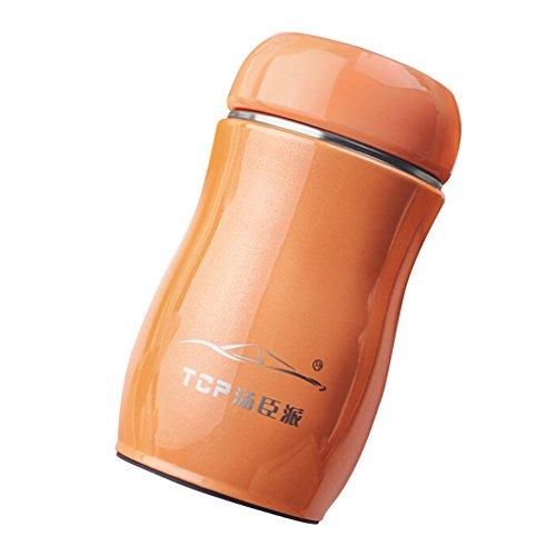 Happy Event Kawaii Süßigkeitsfarbe Edelstahl Thermobecher I Isolierbecher für Kaffee Wine Water I Doppelwandig Vakuumisolierung I Travel Mug Tasse Becher (Orange)
