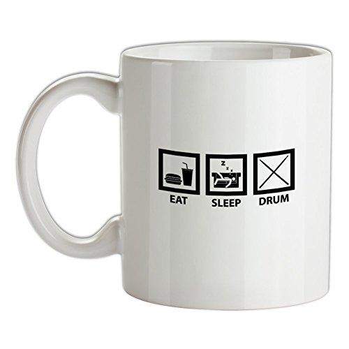 Eat Sleep Drum (Schlagzeug) - Bedruckte Kaffee- und Teetasse