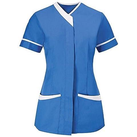 Alexandra Womens/Ladies Contrast Trim Medical/Healthcare Work Tunic (20) (Hospital