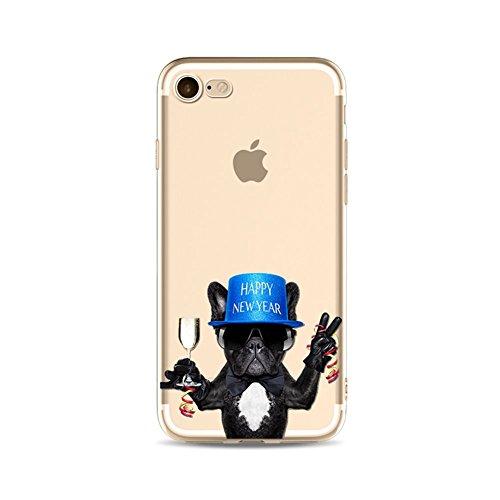 iPhone6 Plus Hülle, Caroki TPU Stilvolles Tierdesign Hülle, [Slim Fit] 3D-Relief-Lackierungstechnologie [Scratch Resistant/Shock Absorption] Soft TPU Schutzhülle(iPhone6 Plus/6S Plus, Jubeln)