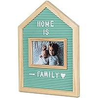 Balvi Marco & Tablero Letras Home Color Verde para Fotos de 10x15 con Letras, números