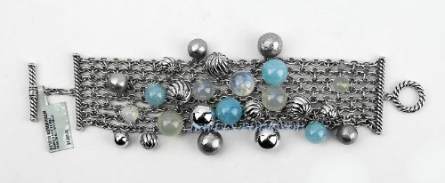 david-yurman-elements-cluster-semiprecious-blue-belle-silver-bracelet